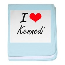 I Love Kennedi artistic design baby blanket