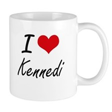 I Love Kennedi artistic design Mugs