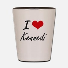 I Love Kennedi artistic design Shot Glass