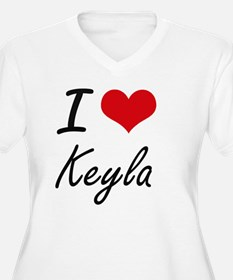 I Love Keyla artistic design Plus Size T-Shirt