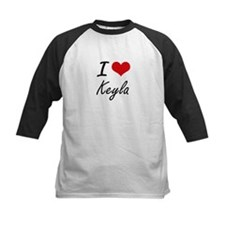 I Love Keyla artistic design Baseball Jersey