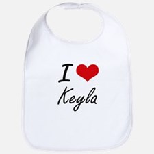 I Love Keyla artistic design Bib