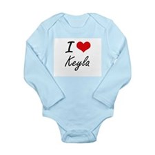 I Love Keyla artistic design Body Suit