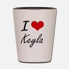 I Love Keyla artistic design Shot Glass