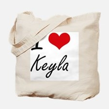 I Love Keyla artistic design Tote Bag