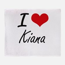 I Love Kiana artistic design Throw Blanket