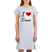I Love Kianna artistic design Women's Nightshirt
