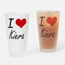 I Love Kiera artistic design Drinking Glass