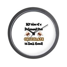MYIDEA OF A BALANCED DIET IS CHOCOLATE  Wall Clock