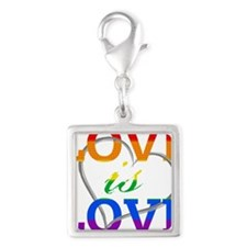 Love is Love Rainbow Heart Charms