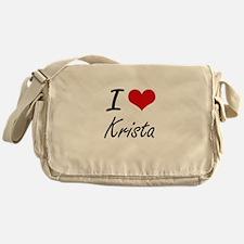 I Love Krista artistic design Messenger Bag