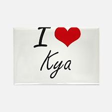I Love Kya artistic design Magnets