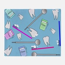Dental Tools Throw Blanket