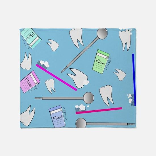 Dental Tools Throw Blanket