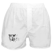 2 Precious Pugs Boxer Shorts