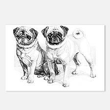2 Precious Pugs Postcards (Package of 8)