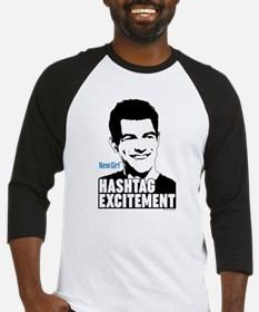 New Girl Hashtag Excitement Baseball Jersey