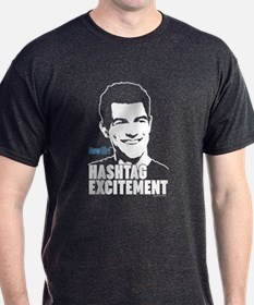 New Girl Hashtag Excitement T-Shirt