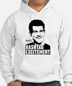New Girl Hashtag Excitement Hoodie