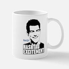 New Girl Hashtag Excitement Mug