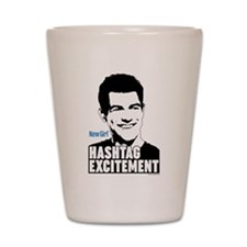 New Girl Hashtag Excitement Shot Glass