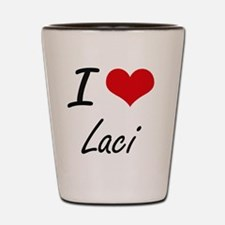 I Love Laci artistic design Shot Glass