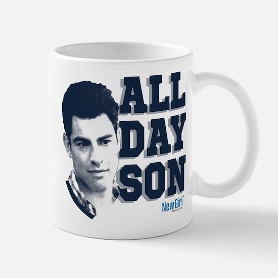 New Girl All Day Son Mug