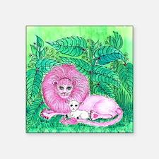 "Pink Jungle Square Sticker 3"" x 3"""
