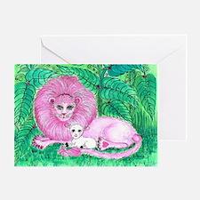 Pink Jungle Greeting Card