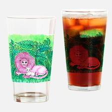 Pink Jungle Drinking Glass