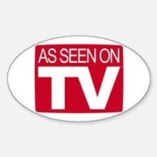 As Seen On TV Oval Decal