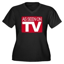 As Seen On TV Women's Plus Size V-Neck Dark T-Shir