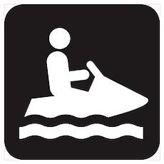 Jet Ski Park Symbol Poster