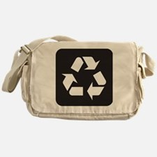 Recycle Symbol Messenger Bag