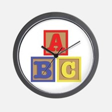 ABC Blocks Wall Clock