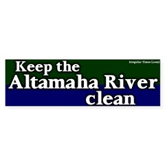 Altamaha River Bumper Bumper Sticker