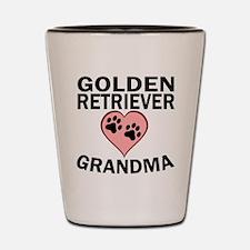 Golden Retriever Grandma Shot Glass