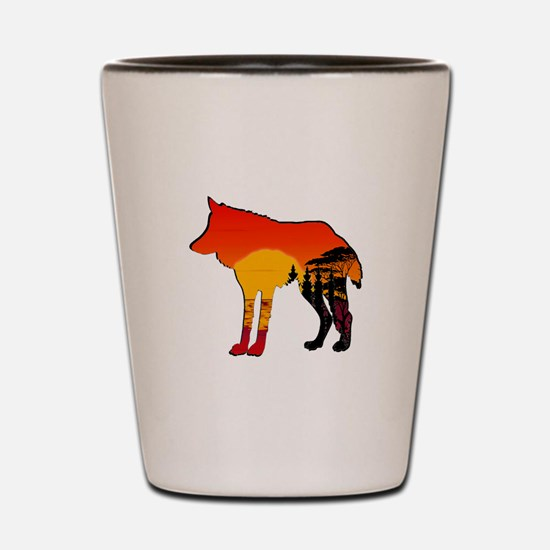 WOLF DAY Shot Glass