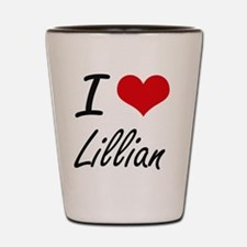 I Love Lillian artistic design Shot Glass