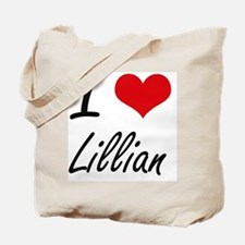 I Love Lillian artistic design Tote Bag