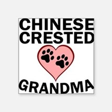 Chinese Crested Grandma Sticker