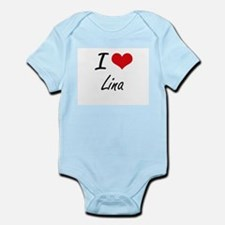 I Love Lina artistic design Body Suit