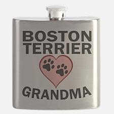 Boston Terrier Grandma Flask