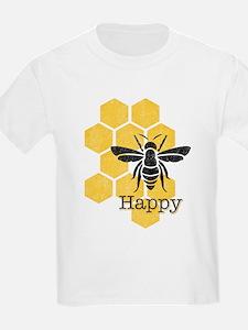 Honeycomb Bee Happy T-Shirt