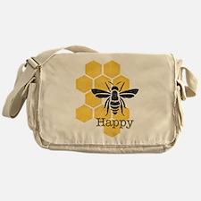 Honeycomb Bee Happy Messenger Bag