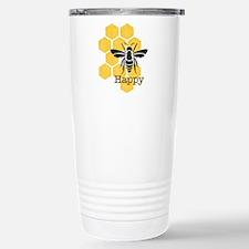 Honeycomb Bee Happy Stainless Steel Travel Mug