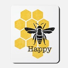 Honeycomb Bee Happy Mousepad