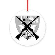 Eton Rifles Round Ornament
