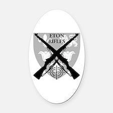 Eton Rifles Oval Car Magnet