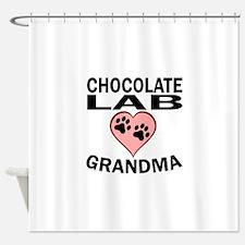Chocolate Lab Grandma Shower Curtain
